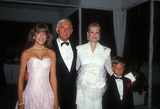 Aaron Spelling Photo - Aaron Spelling with Candy Spelling  Tori Spelling and Randy Spelling 1988 Photo by Betty Mickelson-michelson-Globe Photos Inc