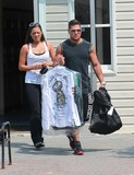 Mike The Situation Sorrentino Photo - August 9 2010 Mike The Situation Sorrentino Pauly D Ronnie and Sammi drop off some laundry as they film scenes for season 3 of the Jersey Shore in Seaside Heights New Jersey