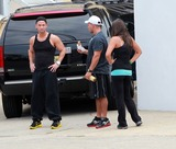 Mike The Situation Sorrentino Photo - August 4 2010 Mike The Situation Sorrentino Ronnie and Sammi head to the gym as they film scenes for season 3 of the Jersey Shore in Seaside Heights New Jersey